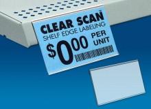 Adhesive-back Flat Surface Shelving Labels