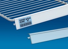 Clear Scan Label Strips for Wire Shelving