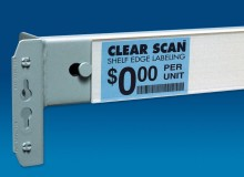 Clear Scan label holders for pallet racks
