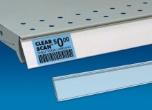 Clear Scan Label Strips for Price Channel