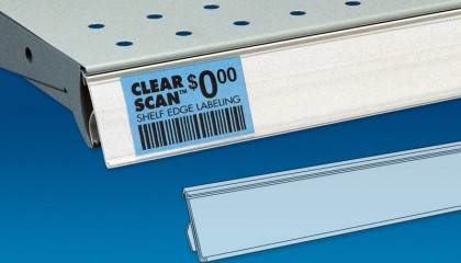 Clear Scan® Rigid Back Price Channel