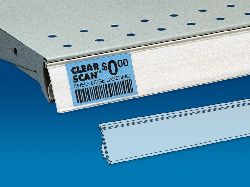 Clear Scan 174 Rigid Back Price Channel Trion Merchandising