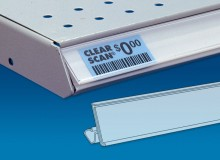 Clear Scan for Price Channel & Wire Shelving