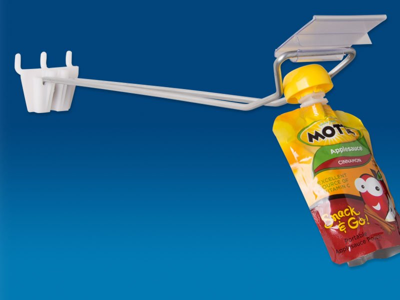 pouch hook for pegboard and slatwall trion merchandising solutions